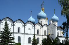 Kazan Kremlin, a fragment of the Annunciation Cathedral Stock Photos