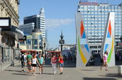 Kazan, Bauman Street Stock Photos