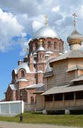 Svijazhsk. Cathedral of Our Lady of All the Afflicted and Trinity Church - stock photo