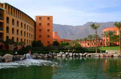 Intercontinental Taba Heights Resort 5 stars, salt lake on territory of hotel Stock Photos