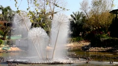 Fountain  in the park, Israel Stock Footage