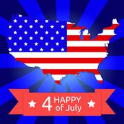 America flag on the American territory Stock Illustration