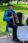Rural harmonist at the event  Stock Photos