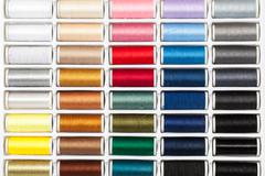 Palette Sewing Threads - stock photo