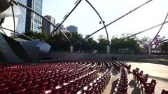 Millennium Park  Chicago Stock Footage