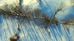 Hudson Valley HD Winter Aerials Stock Footage