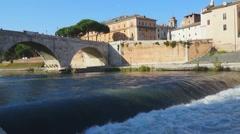 The Tiber island Rome   011  HD FullHD Stock Footage