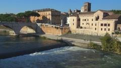 The Tiber island Rome   012  HD FullHD Stock Footage