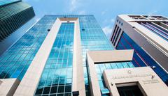 Baku - MARCH 1, 2014: International Bank of Azerbaijan office on - stock photo