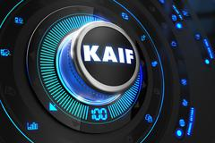 Kaif Button with Glowing Blue Lights - stock illustration