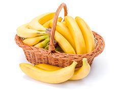 Bananas in basket - stock photo