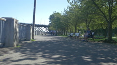 Beautiful afternoon in the Waterfront Park Trail, Portland Stock Footage