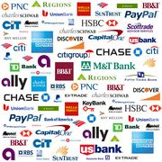 Stock Illustration of Bank Brands Logo Compilation