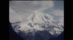 Large Iconic Swiss Alps Mountaintop - stock footage