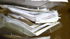 A pile of old paper Stock Footage