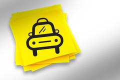 Stock Illustration of Composite image of taxi graphic