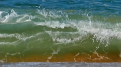 Beautiful colored water wave ocean splashing slow motion  Stock Footage