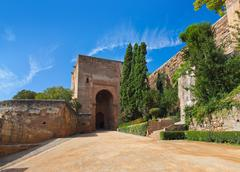 Alhambra palace at Granada Spain Stock Photos