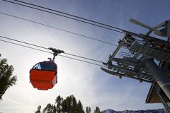Gondola lift - stock photo