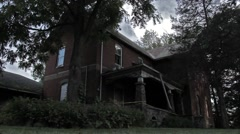 Condemned creepy house Stock Footage