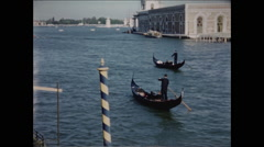 Two Gondolas in Venice 1957 Stock Footage