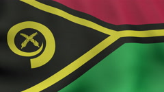 4K UltraHD Loopable waving Vanuatuan flag animation Stock Footage