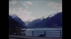 Lake Lucerne and Alps 1957 Stock Footage