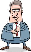 businessman character cartoon illustration - stock illustration