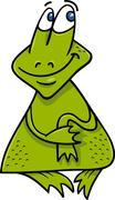 Frog or toad cartoon illustration Stock Illustration