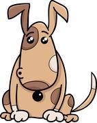 Surprised dog cartoon illustration Stock Illustration