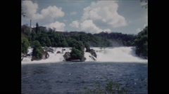 Rhine River Falls WS 1957 - 1 Stock Footage