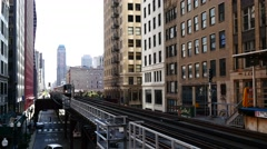 Metro Chicago, popularly known as L. Stock Footage