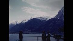 Tourist Take Photo of Alps Lake Lucerne Stock Footage