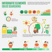 Ideas Infographic Set Stock Illustration