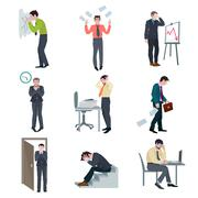 Failure Business Set - stock illustration