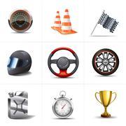 Stock Illustration of Racing Icons Set