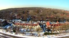 Queens Winter Aerials Stock Footage