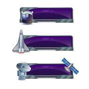 Stock Illustration of Space Banner Set