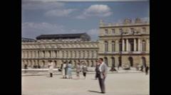 Palace of Versailles Rear Exterior 1957 Stock Footage