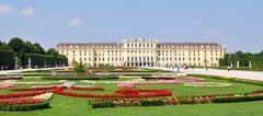 Castle in Vienna, Schonbrunn, Austria, Europe Stock Photos