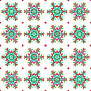 Seamless pattern with a snowflakes - stock illustration