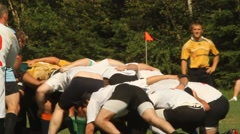 Rugby scrum Stock Footage