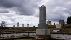 Time-lapse of Old Tombstones Stock Footage