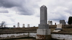 Time-lapse of Old Tombstones with Film Look - stock footage