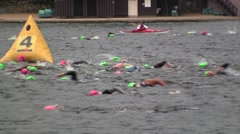 IronMan Swim, Lake Placid, NY Stock Footage