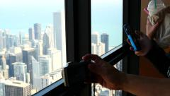 Building View John Hancock Center in Chicago USA Stock Footage