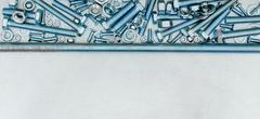 Hairpin and other fixing elements on the scratched metal background. - stock photo