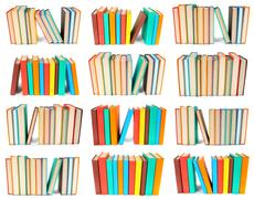 Set from piles of books. Stock Photos
