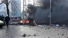 Maidan. Protesters.  Kiev. 16.03.2014 Stock Footage