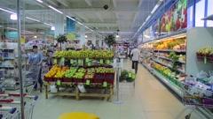 Russia, food supermarket Stock Footage